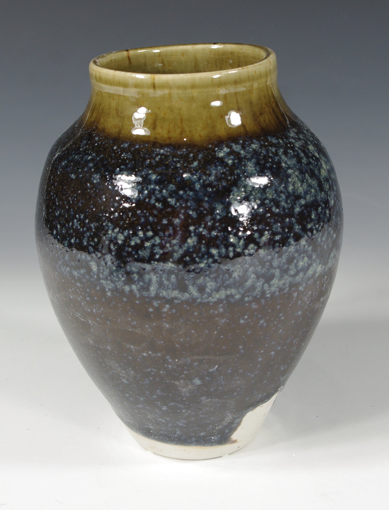 Blue Brown Vase #2 - Skip Bleecker