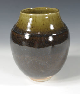 Blue Brown Vase #3 - Skip Bleecker