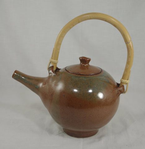 Tea Pot with Bamboo Handle #7 - Ceramic Sculpture by Skip Bleecker