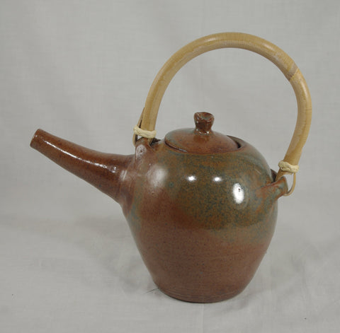 Tea Pot with Bamboo Handle #9 - Ceramic Sculpture by Skip Bleecker
