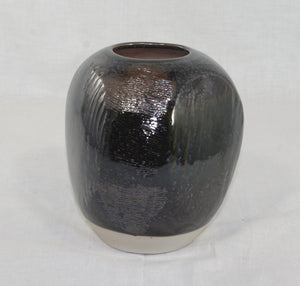 Dark Blue Textured Vase - Skip Bleecker