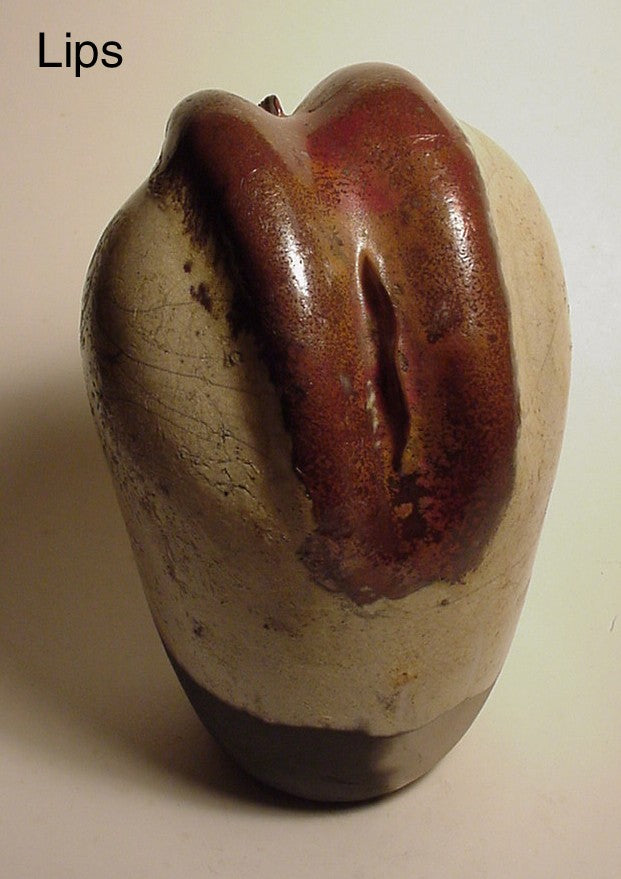 Lips - Ceramic Sculpture by Skip Bleecker
