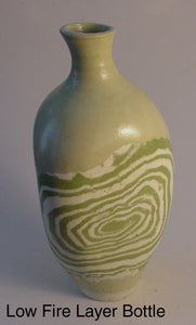 Low Fire Layer Bottle - Ceramic Sculpture by Skip Bleecker