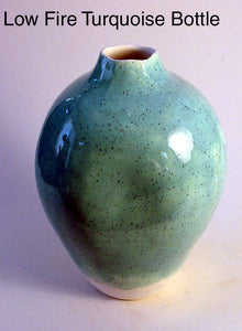 Low Fire Turquoise Bottle - Skip Bleecker