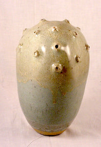 Tan Pollen Form - Ceramic Sculpture by Skip Bleecker