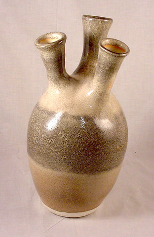 Three Spout Bottle - Ceramic Sculpture by Skip Bleecker