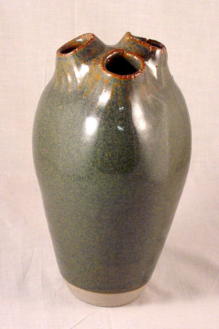 Three Hole Vase #3 - Ceramic Sculpture by Skip Bleecker