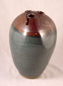 Three Hole Vase #2 - Ceramic Sculpture by Skip Bleecker