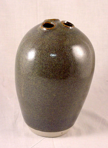 Three Hole Vase - Ceramic Sculpture by Skip Bleecker