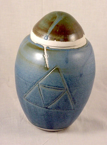 Medium Blue Lidded Jar - Skip Bleecker