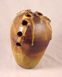 12 Hole Bottle - Ceramic Sculpture by Skip Bleecker