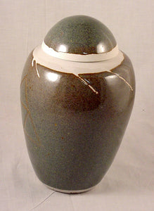 Blue Brown Lidded Jar #2 - Skip Bleecker