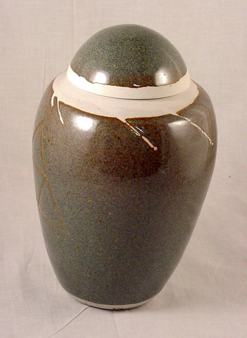 Blue Brown Porcelain Jar - Skip Bleecker