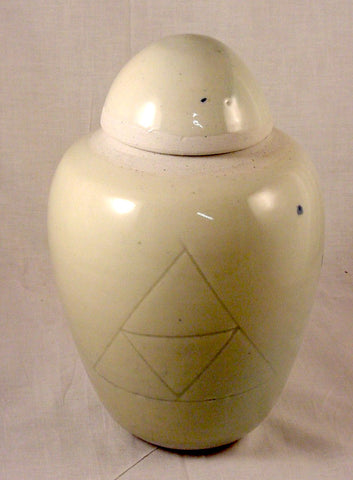 White Porcelain Jar - Ceramic Sculpture by Skip Bleecker