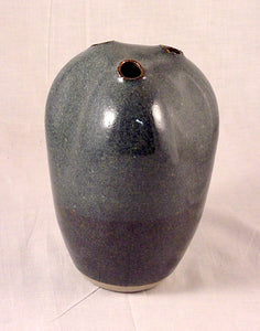 Three Hole Blue Vase - Skip Bleecker