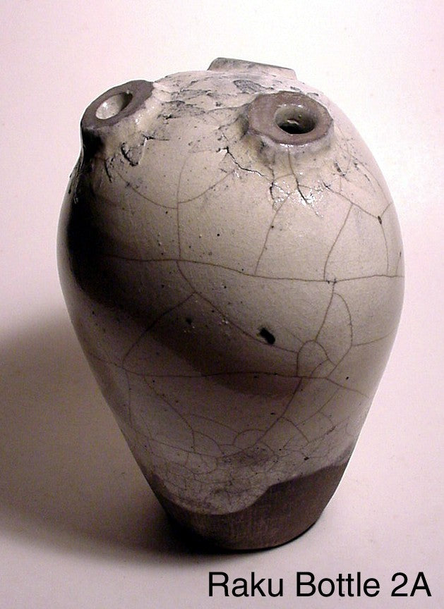 Raku Bottle 2 - Skip Bleecker