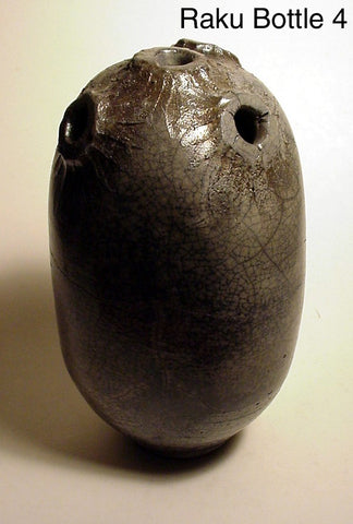 Raku Bottle 4 - Skip Bleecker