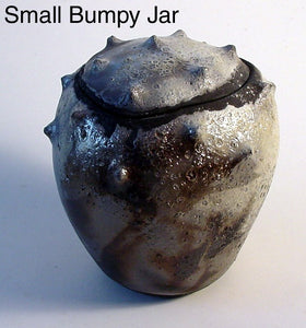 Small Bumpy Jar - Ceramic Sculpture by Skip Bleecker