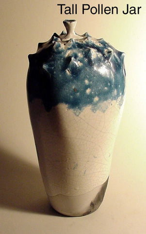 Tall Pollen Jar - Ceramic Sculpture by Skip Bleecker