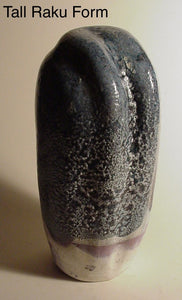 Tall Pollen Form - Ceramic Sculpture by Skip Bleecker