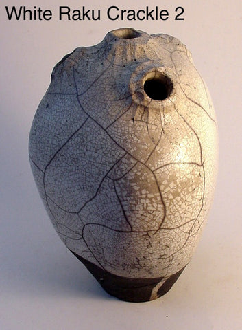 White Raku Crackle 2 - Ceramic Sculpture by Skip Bleecker
