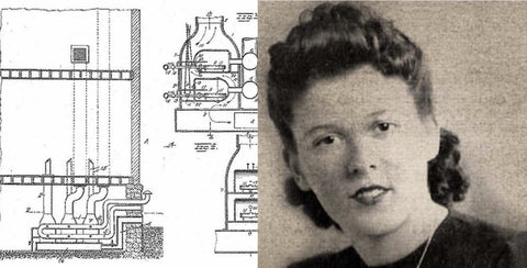Alice Parker Patent Heater Drawing