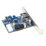 PCI-E to USB3.0 Card + 3.5inch 2Ports USB 3.0 HUB Front Panel (Set)