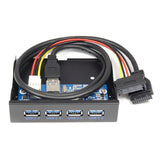 PCI-e USB 3.0 Adapter Card with 19Pin +3.5inch 4Ports USB3.0 Front Panel (Set)