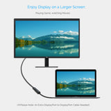 USB C to DisplayPort Adapter (4k@60hz), RIITOP USB 3.1 Type-C (Thunderbolt 3) to DisplayPort (DP) Video Cable for MacBook Pro, Google Chromebook, Samsung Galaxy S8