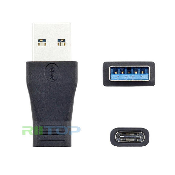 RIITOP USB-C 3.1 Type C Female to USB 3.0 A Male Adapter Support Data Sync & Charging [CFTAM]