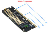 M.2 NVMe SSD to PCI-E 3.0 4x/8x/x16 Adapter Card Converter for M Key PCIe M.2 NVMe SSD 2230/ 2242/ 2260/ 2280mm [NVME2P16XB]