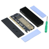 PCI-e 3.0 16x to M.2 PCI-e NVMe Adapter for NGFF M key 2230/2242/2260/2280mm SSD with Heatsink [M2TPCE16X]