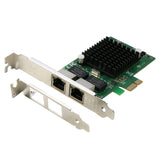 PCI-e to Dual Ethernet Card PCI Express to 2 Ports RJ45 Gigabit Ethernet Adapter Controller Card Intel 82575 Chipset with Low Profile Bracket [PCIE1000M-2P]