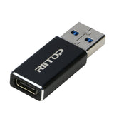 USB A to USB C Adapter, RIITOP USB 3.1 A Male to USB C Female GEN 2 Converter Double-Side 10Gbps Support Data Charging (Upgraded)