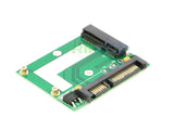 RIITOP mSATA to SATA Adapter mSATA to 2.5 inch SATA 7+15 22 Pin Converter Adapter Card Module Board (50x30mm mSATA SSD compatible) [MSTS-MN]