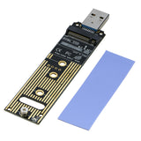 RIITOP PCIe NVMe SSD to USB 3.1 3.0 Type A Adapter For PCIe M Key M.2 NVMe SSD Converter Card Module Board [PCEM2TU3]