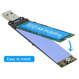 RIITOP PCIe NVMe SSD to USB 3.1 3.0 Type A Adapter For PCIe M Key M.2 NVMe SSD Converter Card Module Board