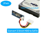 "RIITOP IDE2SATA IDE to SATA Adapter (2Pack), 3.5"" IDE HDD Hard Drive to SATA Converter Adapter 40 pin IDE PATA to 7+15 pin 22 pin SATA Adaptor for 3.5 inch IDE HDD Hard Drive"