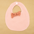 Tilly Bib and Bow Set in Pink