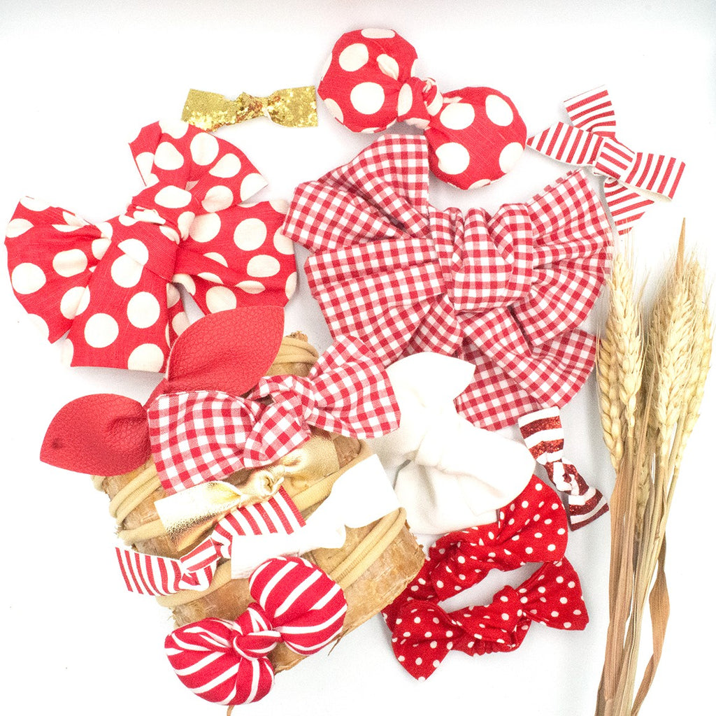 Christmas Betty Linen Bow