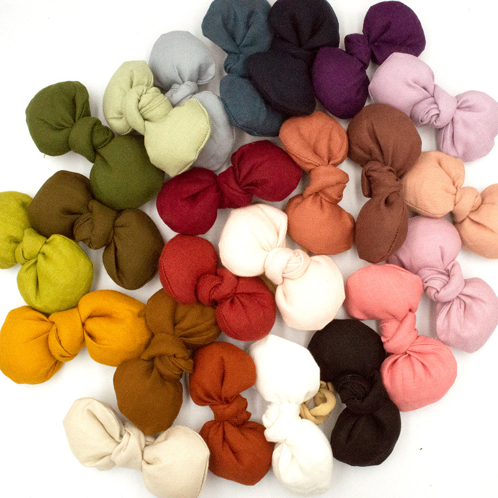Freya Linen Bows - 23 colours