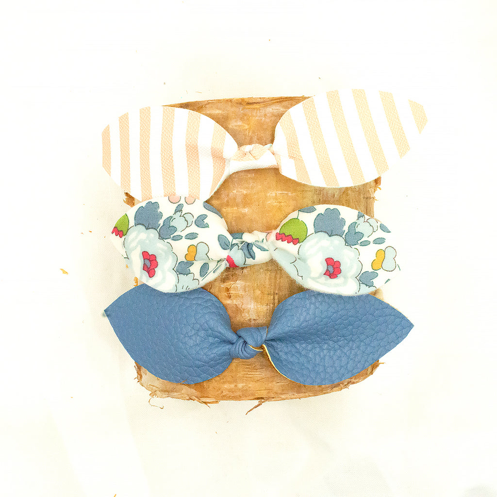 Heather Petal Bow Set 8