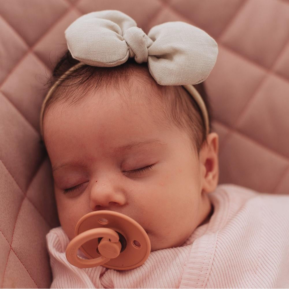 Mini Freya Linen Bow - 16 colours available