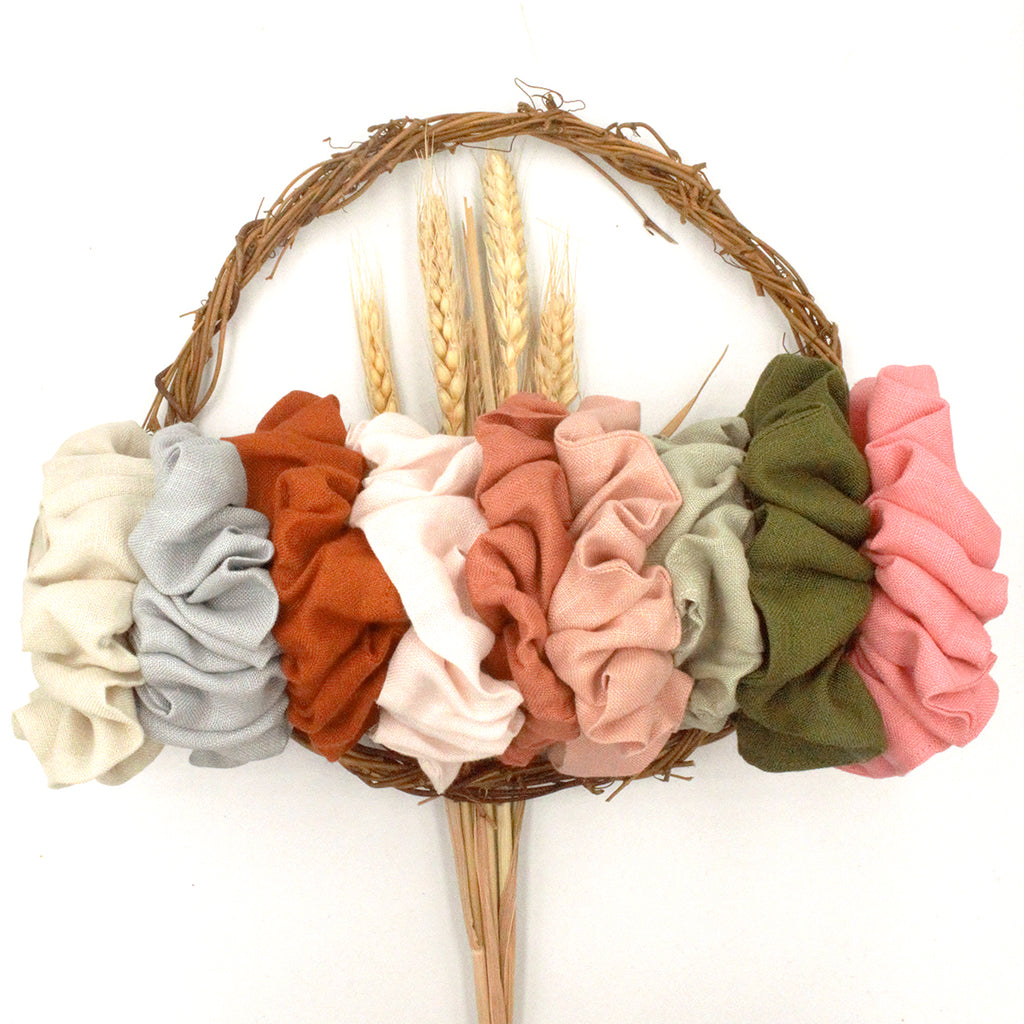 Linen Scrunchies and Stumpies - 9 colours