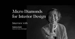 Federica Zanini, sales manager di DiamArt, ci racconta le infinite possibilità applicative del micro diamante nel mondo dell'interior design.