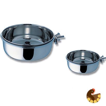 Coop Cups - Stainless Steel with Clamp Holder