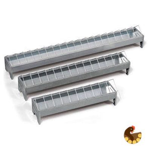 Galvanised Feed Trough- Chicks and Chickens