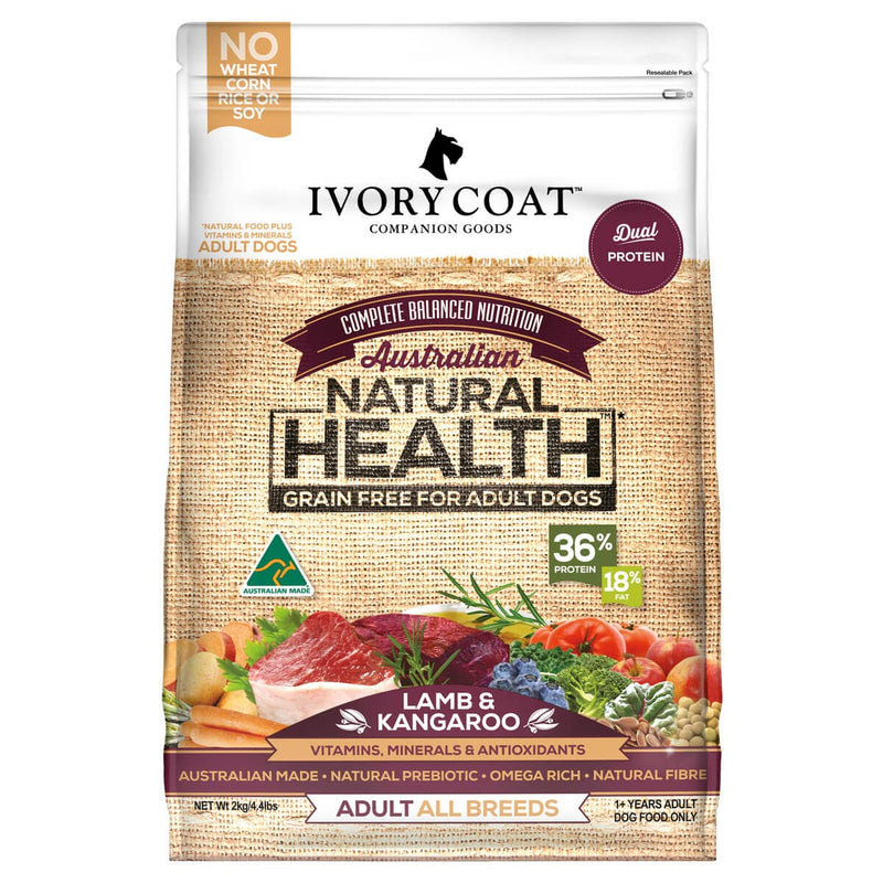 Ivory Coat Dog Food ~ Lamb & Kangaroo Grain Free Recipe