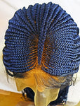 IMANI: Cornrow braided wig made with 100% premium quality fiber