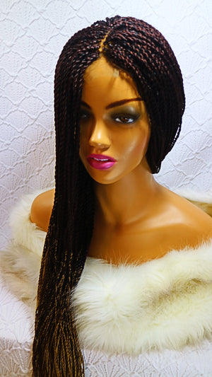 Jolie: lace front braid wig color Tj99/27